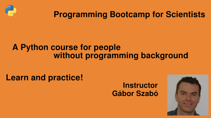 Python Programming Bootcamp for Scientists